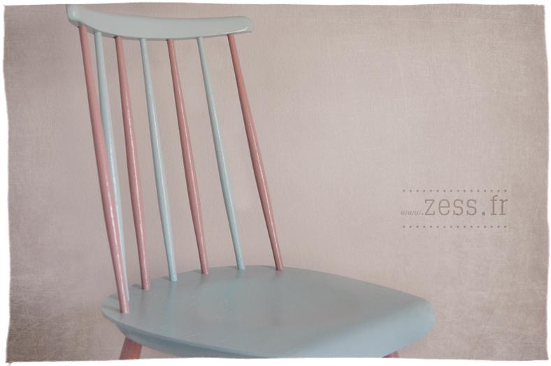 retaper chaise pastel rétro vintage peinture