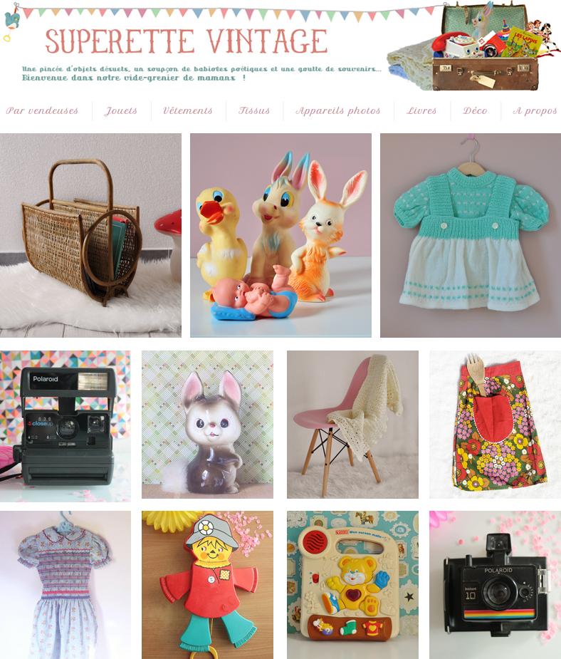 superette vintage boutique en ligne d'objets rétro